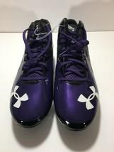 NEW Under Armour Cleats Men's Football Clutch Fit Purple U.S. Size 13 M 4D Foam - $39.89