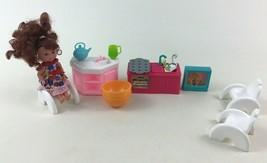 Barbie Kelly Friend Mac Kitchen Playset Lot Furniture Doll Accessories M... - $17.77