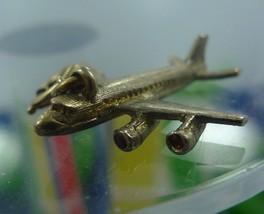VINTAGE GOLDEN MONET JET AIRPLANE CHARM GOLD TONE - €10,16 EUR