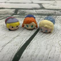Disney Tsum Tsum Vinyl Figures Lot Small Frozen Anna Elsa Kristof - $19.79
