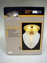 Hampton Bay Polished Brass & Glass Acorn Ceiling Fixture #384-961 In Box - $14.00