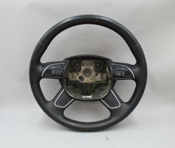 13 14 15 16 Audi A4 S4 A5 Black Leather Steering Wheel - $128.69