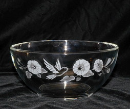Avon Hummingbird * ROUND SERVING BOWL * 24% Full Lead Crystal, Excellent! - $9.95