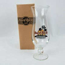 Hard Rock Cafe Pittsburgh Hurricane Glass Pennsylvania Trees Cocktail Bo... - $16.92