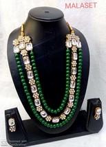 Kundan Bollywood Style Partywear Designer Fashion Necklace Set eB603 - $29.05