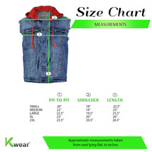 CS Men's Ripped Distressed Button Up Denim Jean Vest Removable Hood Slim Fit image 2