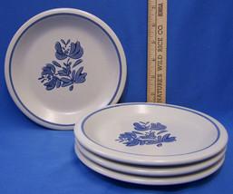 """Pfaltzgraff Yorktowne Small Plates Dessert Salad Bread 6 3/4"""" Blue Flowe... - $14.84"""