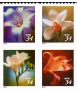 2001 34c Flowers, Booklet Block of 4 Scott 3487-90 Mint F/VF NH - £2.85 GBP