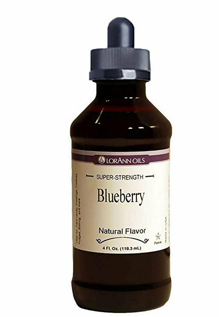 Primary image for LorAnn Super Strength Blueberry Natural Flavor 4 ounce bottle Child Resistant...