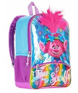 "Trolls Dreamworks 16"" Backpack with 3D Brush-able Hair Poppy Free to Spa... - $37.74"