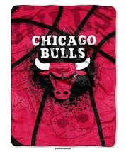 Chicago Bulls Nba Basketball Sports Fan Twin / Full Soft Raschel Throw Blanket - $49.95