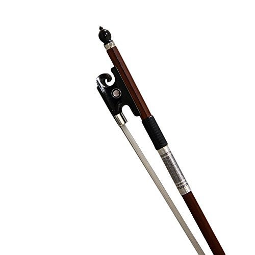 PAITITI 4/4 Full Size Violin Bow Brazil Wood Mongolian Horsehair Round Stick Bla