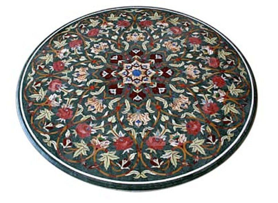 "Primary image for 42"" Marble Center Table Top Mosaic Inlay Marquetry Living Room Mosaic Home Decor"