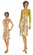 Misses Vogue Office Shrug Bolero A-line Straps Summer Sundress Sew Patte... - $12.99