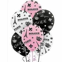 Day In Paris Latex Balloons Bridal Shower 6PCS Weddiing Party Birthday Girl - $3.94