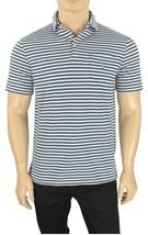 New Polo Ralph Lauren Blue White Striped Chest Pocket Jersey Polo Shirt M - $37.99