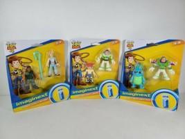 3 Pack Imaginext Toy Story Buzz Lightyear & Jessie + Bunny & Buzz + Carl... - $16.89