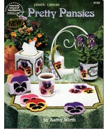 American School Plastic Canvas Pretty Pansies Tissue Box Placemat Leafle... - $5.95