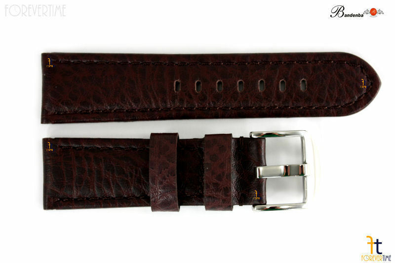 Primary image for Bandenba 24mm Genuine Dark Brown Leather Compatible With Hamilton  Watch Band