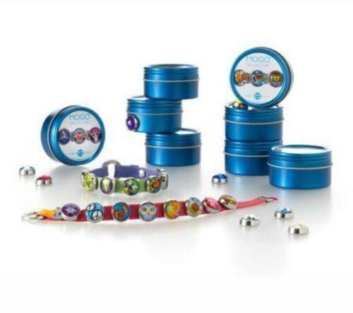MOGO Magnetic Charms SKATER GIRL Round Tin w/ 3 Charms BIRTHDAY PARTY FAVORS NEW image 2