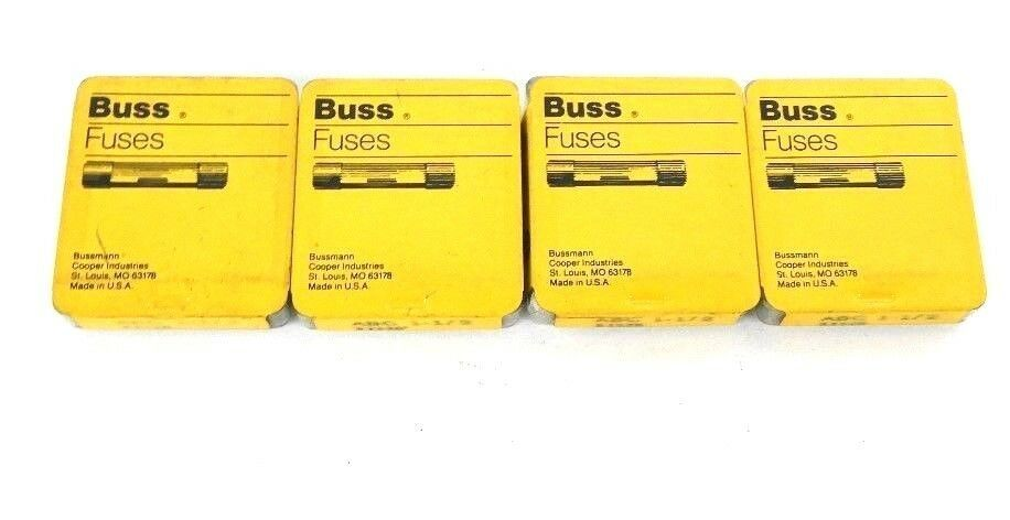LOT OF 16 NEW BUSSMANN ABC 1-1/2 BUSS FUSES 1.5A