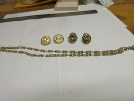 Costume Jewelry ,Vintage , Necklace , Earrings (2) , LCI - $45.00