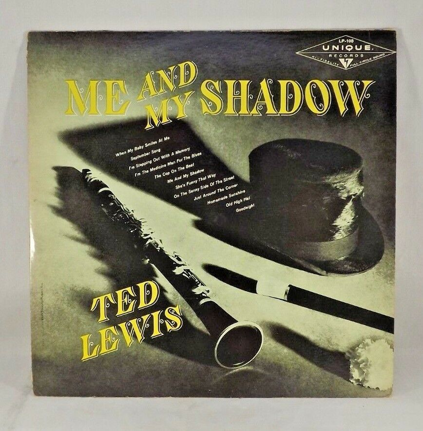 Primary image for SIGNED TED LEWIS ORCHESTRA ME AND MY SHADOW LP RARE JAZZ UNIQUE RECORDS LP-108