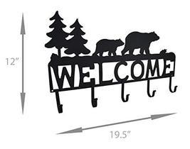 Zeckos Rustic Black Bear Decorative Welcome Wall Hook image 4