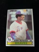 1979 Topps #344 JERRY ROYSTER Atlanta BRAVES baseball card - $0.98