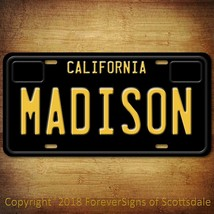 Madison California Name License Plate Aluminum Vanity Tag - $16.82