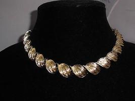 VTG Gold Tone Coro Signed 1950 Era Mid Century Choker Necklace Earring D... - $24.75