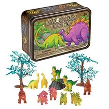 13 Piece Dinosaurs In A Tin Playset - A Fun Go-Anywhere Dinosaur Toy Set - $8.99