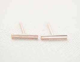 5 pairs of Bar Rose Gold Plated Stud Earring Stud (NED079B) - $12.50