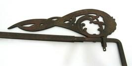 Vintage Antique Style Cast Iron Sign Holder Adjustable Length Bar - $19.75
