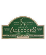 Allcocks fishing tackle logo exact replica vinyl sticker 104mm width 55m... - $3.35