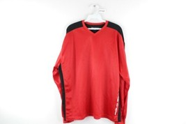 Vtg 90s Polo Sport Ralph Lauren Mens L Spell Out Long Sleeve Jersey Shirt Red - $39.55