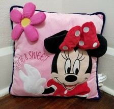 Disney Minnie Mouse Cute & Sweet 3-D Flower Pillow Theme Parks Exclusive - $4.83