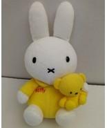 Miffy Boris Plush Bunny Rabbit Teddy Bear Plush Toy Dick Bruna Yellow 2002 HTF - $53.09