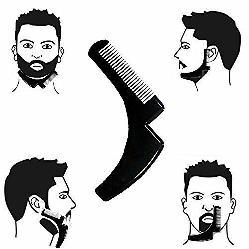 Beard Comb Crest Ridge Anti-Slip Lineup Easy Rejoice Shaping Shave Care Kit Gift