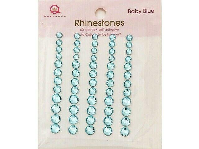 Queen & Co. Baby Blue Rhinestone Stickers
