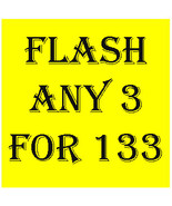 FRI - SJN WEEKEND FLASH SALE! PICK ANY 3 FOR $133  BEST OFFERS DISCOUNT - $266.00