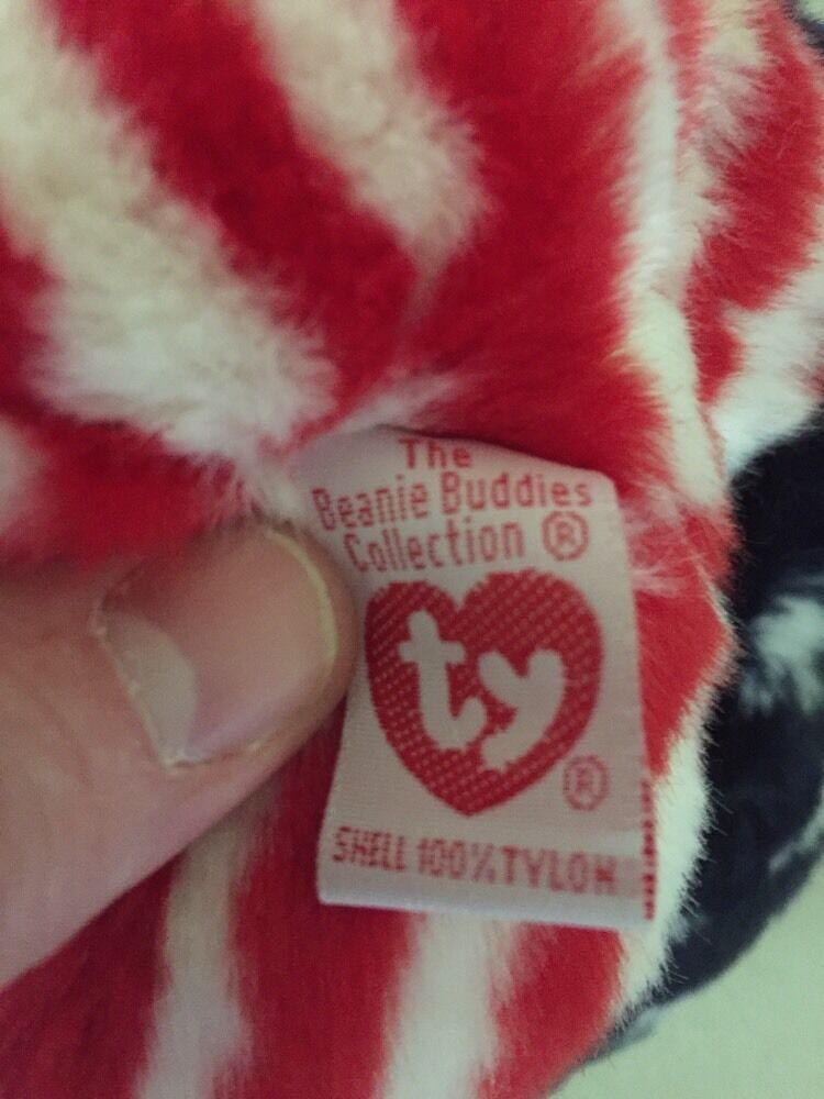 TY Spangle Teddy Bear Beanie Buddy 1999 Stuffed plush image 6