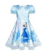 Girls Dress Blue Elsa Anna Snow Castle Party Princess 2019 Summer Wedding - $25.69