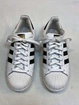 Adidas Originals SUPERSTAR Women's 9 White/Black Shell Toe Shoes Sneakers C77153 - $39.99