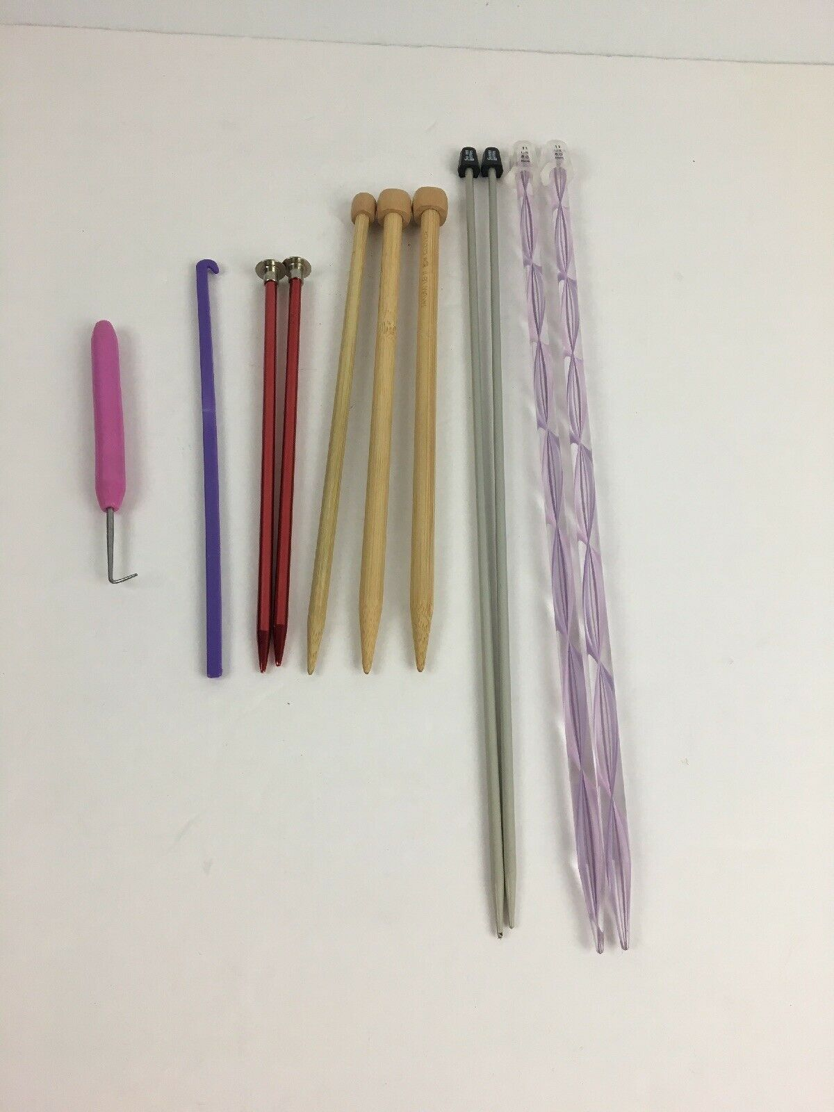 Primary image for Bundle o Knitting Needles Hooks Assorted Susan Bates Takumi Boye 8mm 3.75mm