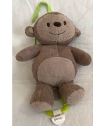 "Just One You Carter's Brown Monkey musical pull toy lovey plush 11"" 2012... - $15.83"