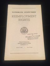 1945 Veterans Benefits and Reemployment booklets image 2