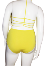 Vicious Young Babes (VYB) Bright Yellow One Piece Swimsuit Size XL image 4