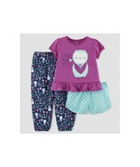 Carter's Just One You Girls Owl   Always Love You 3 Piece Pajamas 12M-5T... - $9.09