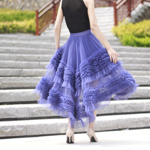 High-low Layered Tulle Skirt Outfit Plus Size Wedding Outfit Tiered Tulle Skirt image 5